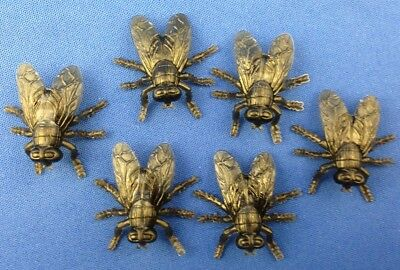 Bug Toys (lot of 50 toy iNSeCt BuG fly FLiES Horsefly plastic crEEpy PEST realistic)