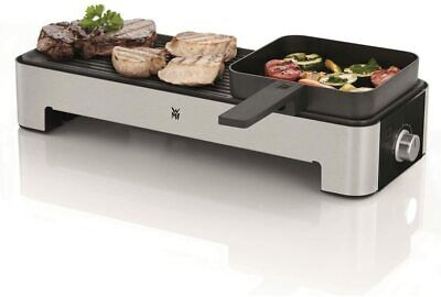 WMF Kitchenminis Grill 1000W 2 Zonas de Cocción Temperatura Ajustable Antiahdere