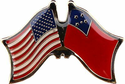 (Wholesale Pack of 6 USA American Samoa Flag Bike Hat Cap lapel Pin )
