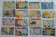 Map Postcard Lot