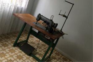 Heavy duty motor vintage industrial SINGER sewing machine 307 G2