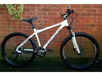 "Carrera Kraken mountain bike,26""wheels,27 speed,dual hydraulic brakes,front suspension"