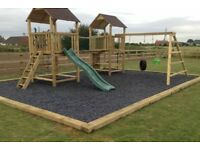 Play park rubber chippings.