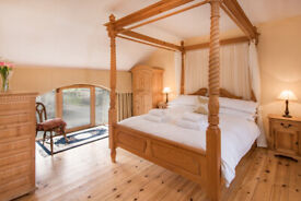 Stunning Pine Four Poster Kind Bed
