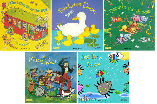 Read & Sing Favorite Nursery Rhymes Wheels on the Bus,Itsy Bitsy Spider,5 Ducks+