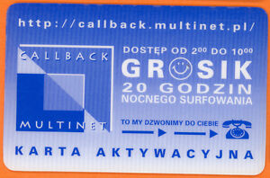 Internet access card - Poland - Multinet - Grosik - 20 hours night access - <span itemprop='availableAtOrFrom'>Wielun, Polska</span> - Internet access card - Poland - Multinet - Grosik - 20 hours night access - Wielun, Polska