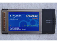 TP-Link TL-WN610G 108Mbps PCMCIA Wireless LAN Cardbus