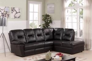 """""""SECTIONAL WITH 1 RECLINER  & NON REVERSIBLE CHAISE WITH STORAGE - BEST DEALS IN GTA"""" (BF-65)"""