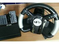 4Gamers PS2 Steering Wheel & Pedals