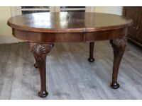 Antique Mahogany Oval Dining Table