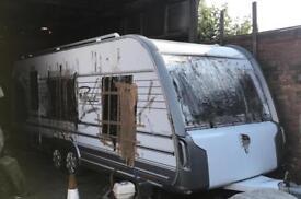 Damaged caravan tabbert hobby