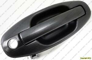 Door Handle Outer Front Driver Side Textured Black Hyundai Santa Fe 2001-2006