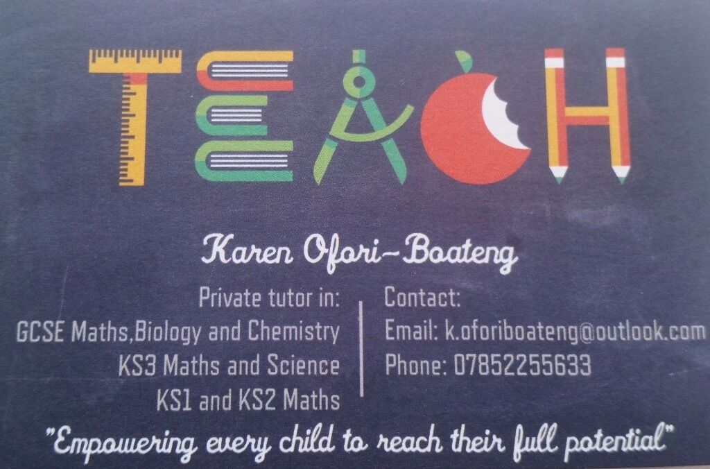 Private Tutor in GCSE,KS3 and KS2 Maths and Sciences-£15 an hour