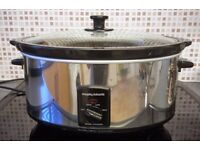 Morphy Richards 6.5 Litre Slow Cooker [Black & Stainless Steel]