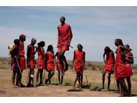 Actors wanted to re-enact historical masai warlike Dance