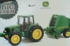 Toy Britains John Deere 6930 Tractor & Baler set