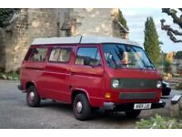VW25 Westfalia 1984 campervan- new MOT, new gearbox, new bodywork, new engine! Sleeps 4 LPG/Petrol