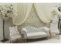 *£99* Flowerwall Hire Wedding Stage Backdrop Flower Wall Wedding Sofa Wedding Stage Mehndi Stage