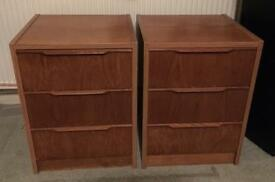 Pair of bedside cabinets.