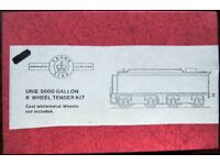 Crown Line Products Ltd T2 Urie 5000 Gallon 8 Wheel Tender Kit - Cast white metal, wheels not incl