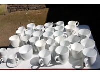 ** MUGS! ** HUGE LOT..all white , brand new, some sets