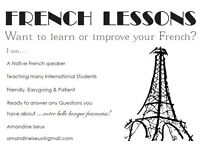 Learn FRENCH with a NATIVE speaker! - experienced teacher, one-to-one classes