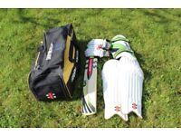 Youth Cricket Equipment - Bag, Gloves, Thigh Pad, Batting Pads, Cricket Bat £40