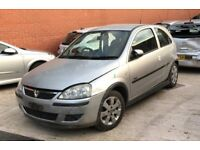Vauxhall Corsa 1.2 SXi 2004 Silver Breaking For Spare Parts Front Passenger Door inc Glass