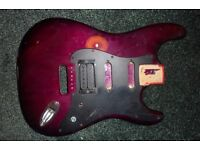 Wine/ Purple Fender Stratocaster body and scratchplate - SSH