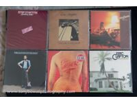 Collection of Nine Eric Clapton Vinyl Albums for Sale