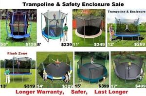 Trampoline & Enclosure Sale,8',11',12',13'14',(15'ft &17 Industrial Grade) 10 yr Warranty,Pick Up Or Shipping Available