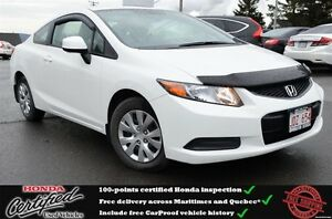 2012 Honda Civic LX, Steering Mounted Controsl, One Owner !!