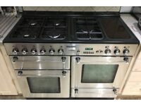 Stainless steel Tecnik Dual fuel Range cooker - Can deliver if needed