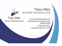 Science Tutor BSc (HONS), PGCE, QTS, 17 years experience (Independent & State sector). Loughborough