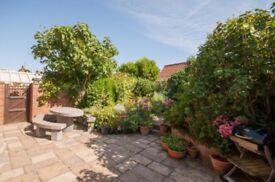 Oval concrete garden table ( no seating)