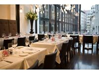 EXPERIENCED WAITING STAFF - BUSY CITY RESTAURANT - MONDAY TO FRIDAY
