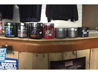Pre workout in various brands and flavours