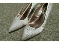 Dune ivory diamante wedding shoes