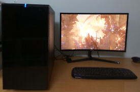 Powerful Gaming PC Core i7-4790k 8x 4.0GHz 16GB RAM GeForce GTX 1070 8GB SSD+HDD Win10 Pro EXCELLENT