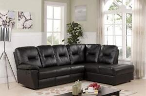 LEATHER RECLINING SECTIONAL | SECTIONAL SALE | MISSISAUGA / PEEL REGION (BD-502)