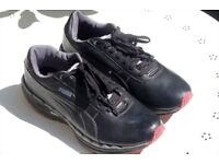 PUMA women's trainer Black and Pink UK8 EU42 Very Good Condition