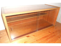 Display Case or Bookcase with Sliding Glass Doors