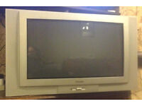 "Large 28"" PACIFIC PTV7017 FLAT-SCREEN older CRT Colour TV with remote, Good Working Order (Heavy)"