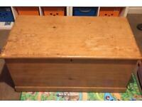 Wooden pine chest