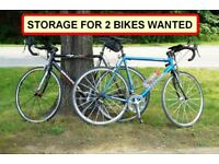 Storage, space in a shed or garage for two bikes wanted