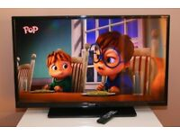"""CELCUS FULL HD 39"""" LED TV, Built in FREEVIEW, with remote."""