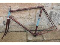 Vintage Ernie clements Reynolds Steel bike frame