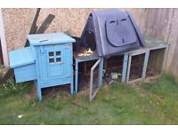 Wooden Chicken Coop for up to 4 chickens and 1.8m run