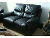 2 x Faux Leather Sofas for Sale