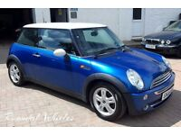 2006 Mini Cooper 1.6 LOW MILES 79k, history, December 2017 MOT, Blue with white roof, alloys LOVELY